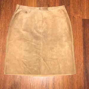 Ralph Lauren suede (leather) skirt